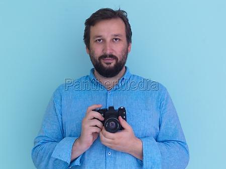 portraet des maennlichen fotografen