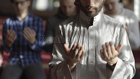 muslim, people, praying, in, mosque - 29810952
