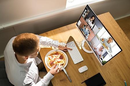 videokonferenz virtuelle lunchpause