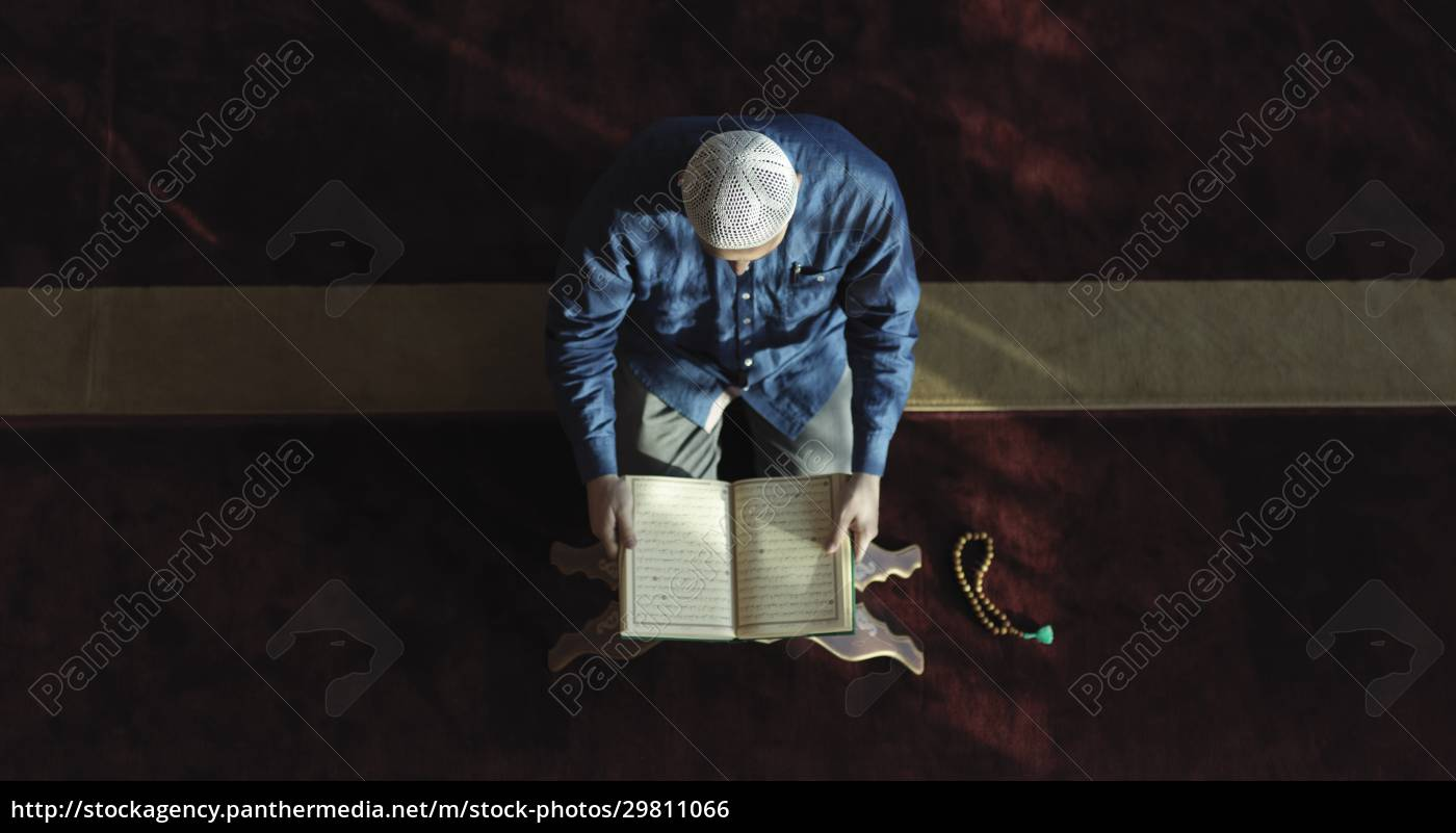 muslim, man, praying, inside, the, mosque - 29811066