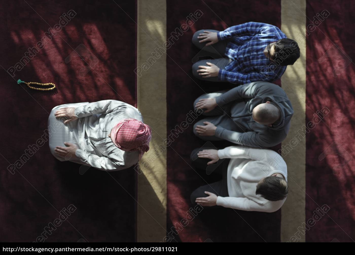 muslim, people, praying, in, mosque, - 29811021