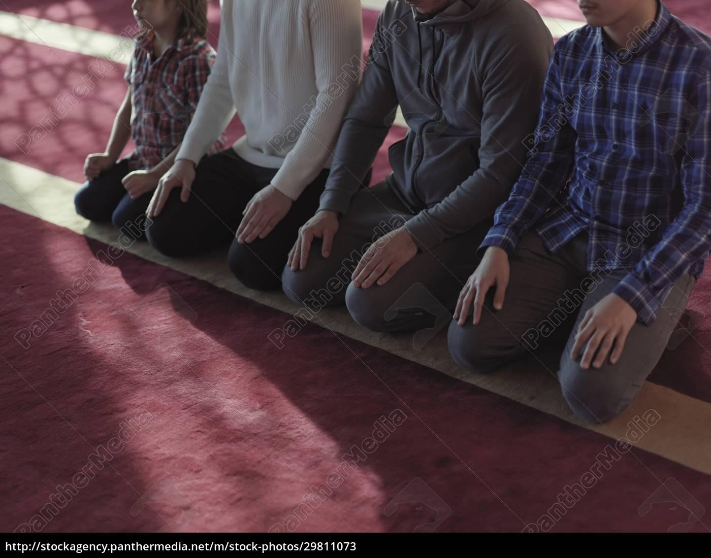 muslim, people, praying, in, mosque - 29811073