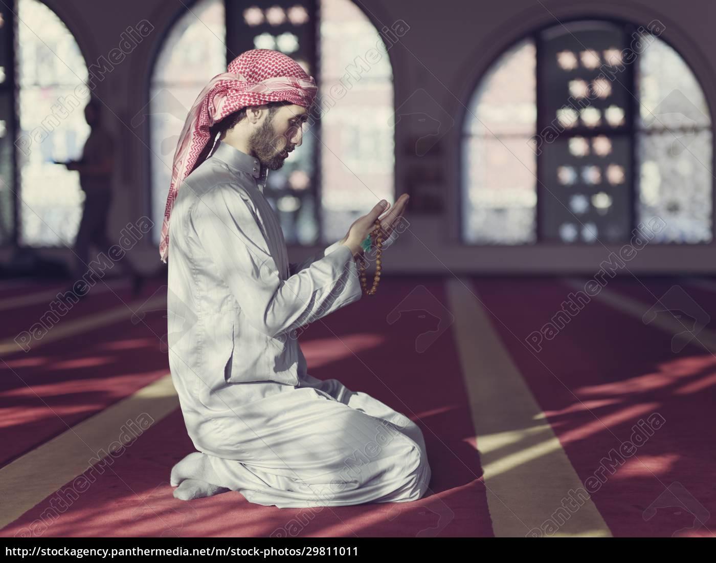 muslimisches, gebet, in, der, moschee - 29811011