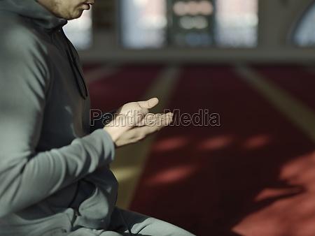 muslimisches, gebet, in, der, moschee - 29811025
