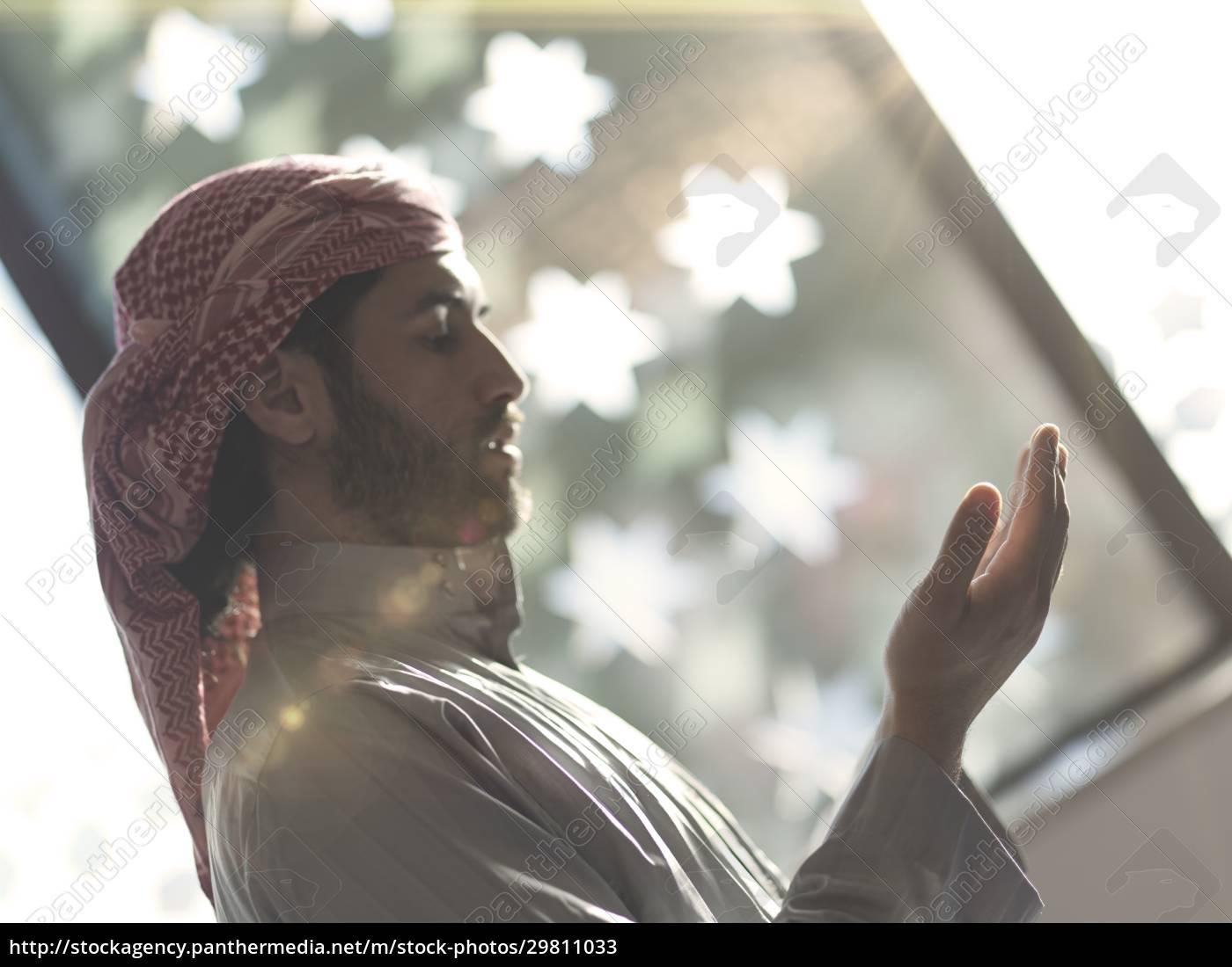 muslimisches, gebet, in, der, moschee - 29811033