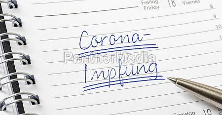 corona impfung auf deutsch geschrieben auf