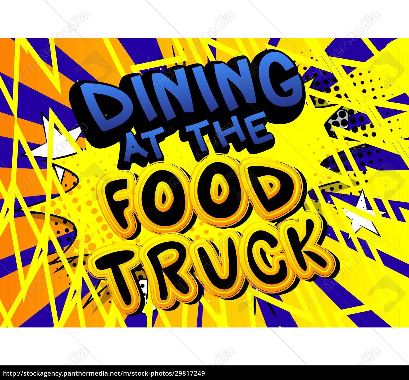 essen, im, food, truck, -, comic-buch-stil - 29817249