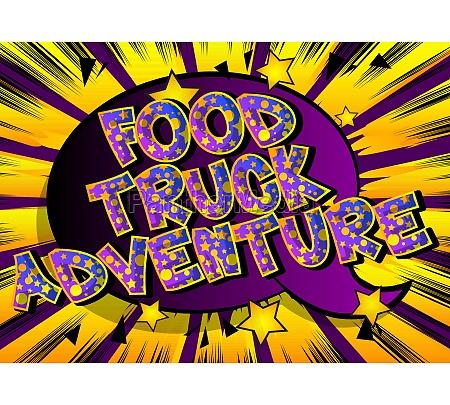 food, truck, abenteuer, -, comic-buch-stil-text. - 29817246