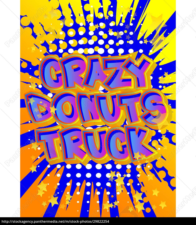 crazy, donuts, truck, -, comic, book - 29822254
