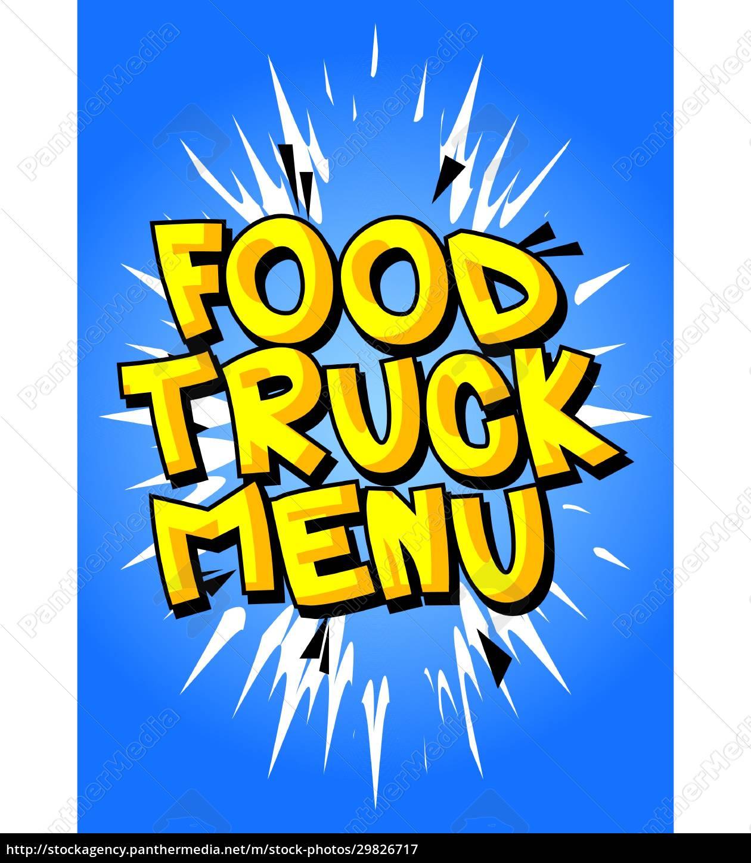 food, truck, menü, -, comic-buch-stil-text. - 29826717