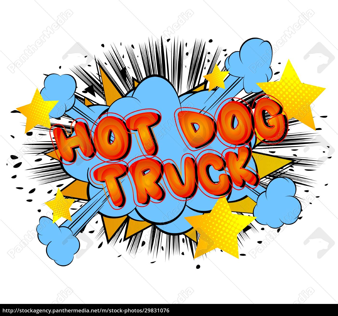 hot, dog, truck, -, comic, book - 29831076