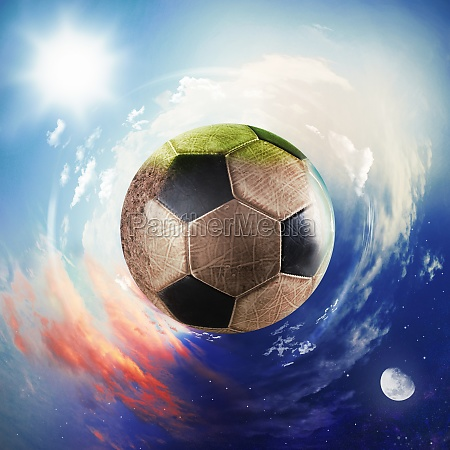 weltbild der fussballwelt fussball als planet