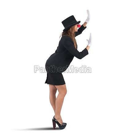 mime geschaeftsfrau