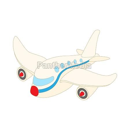 passagierflugzeug ikone cartoon stil