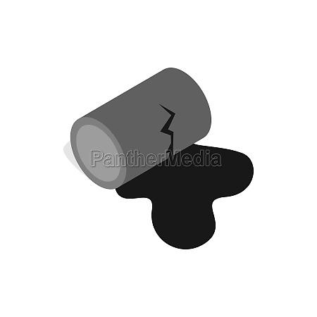 symbol im isometrischen 3d stil auf