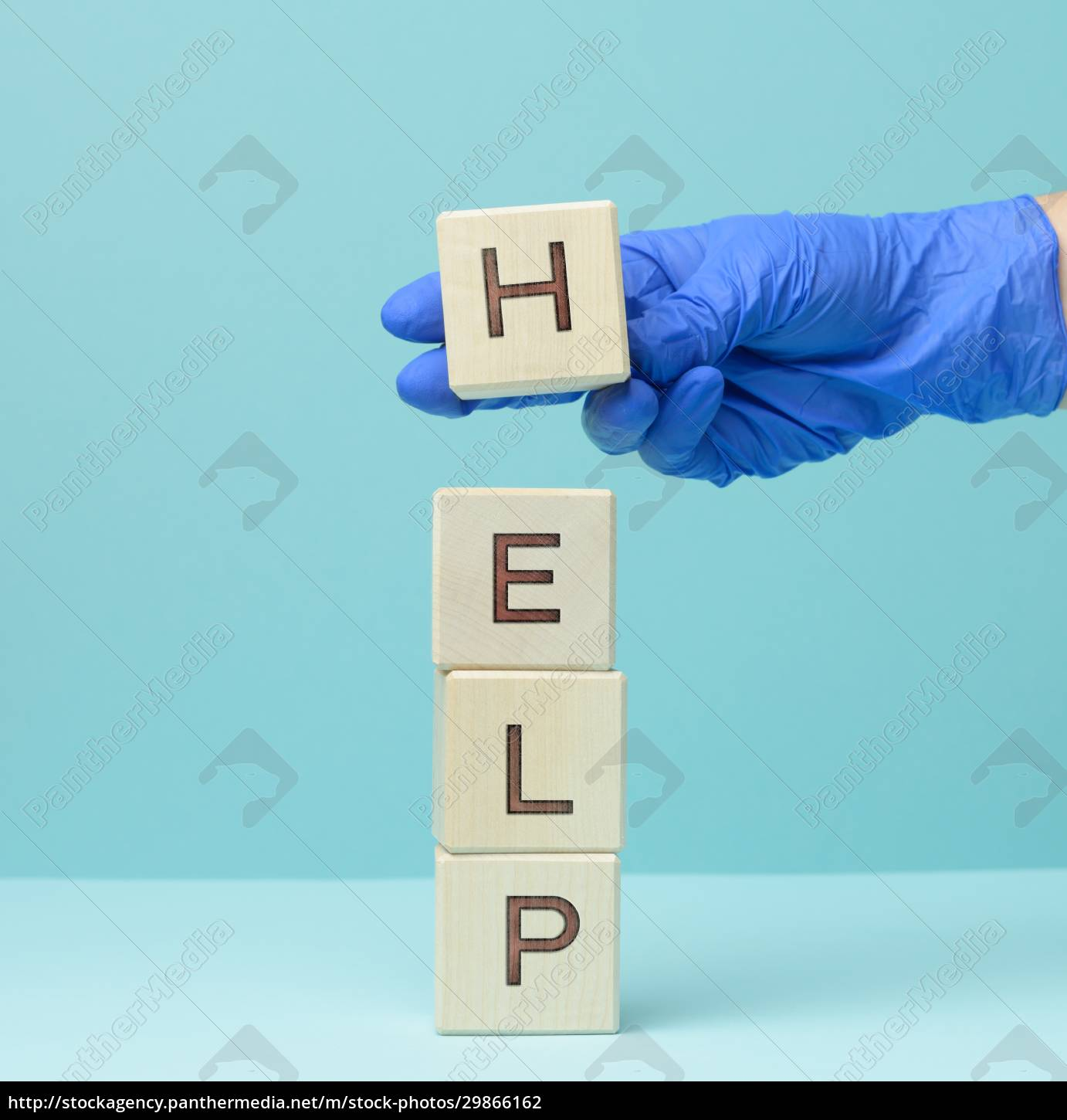 inscription, help, on, wooden, cubes, and - 29866162