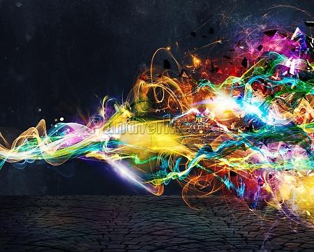 modern, abstract, motion, banner, on, dark - 29868989