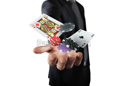 rich gambler macht seine wette mit