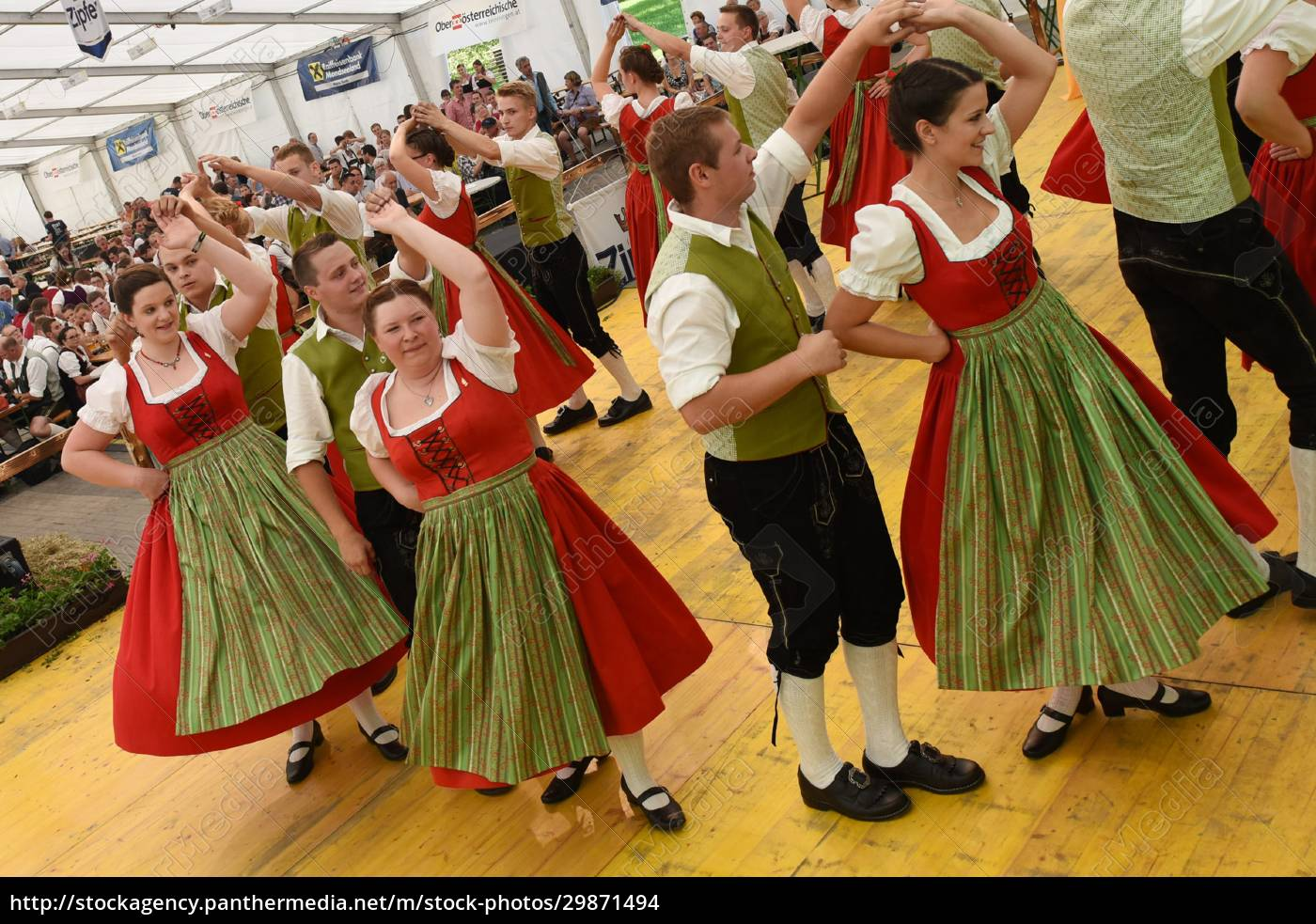 Öffentliche, aufführung, österreichische, österreichische, volkstänze, beim - 29871494