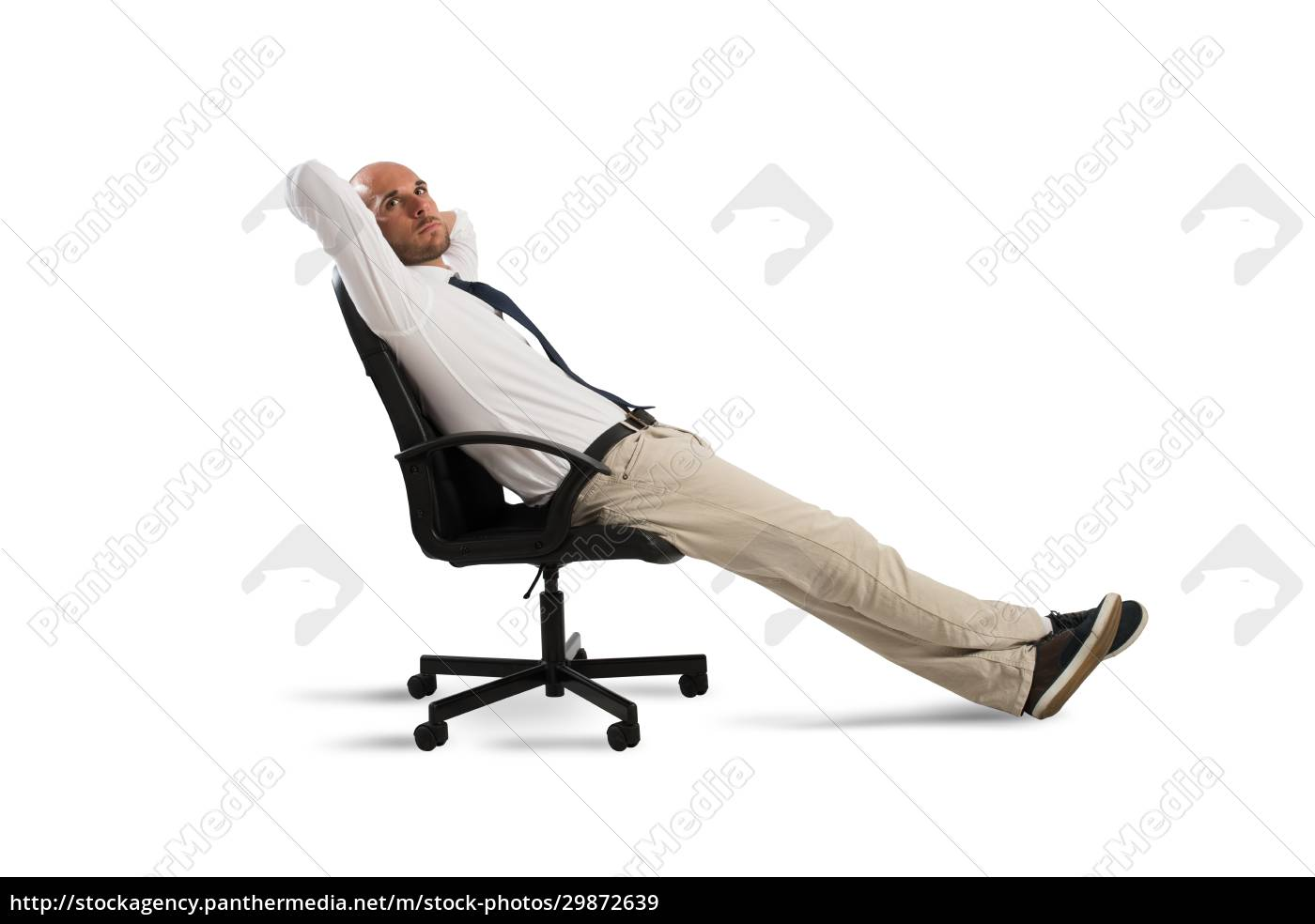 businessman, relax, and, think - 29872639