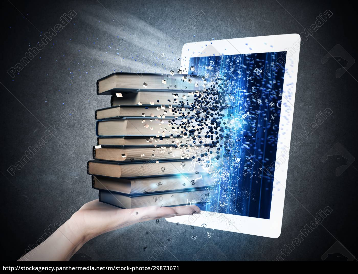 reading, books, with, an, e-book - 29873671