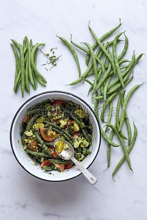 gruener bohnensalat