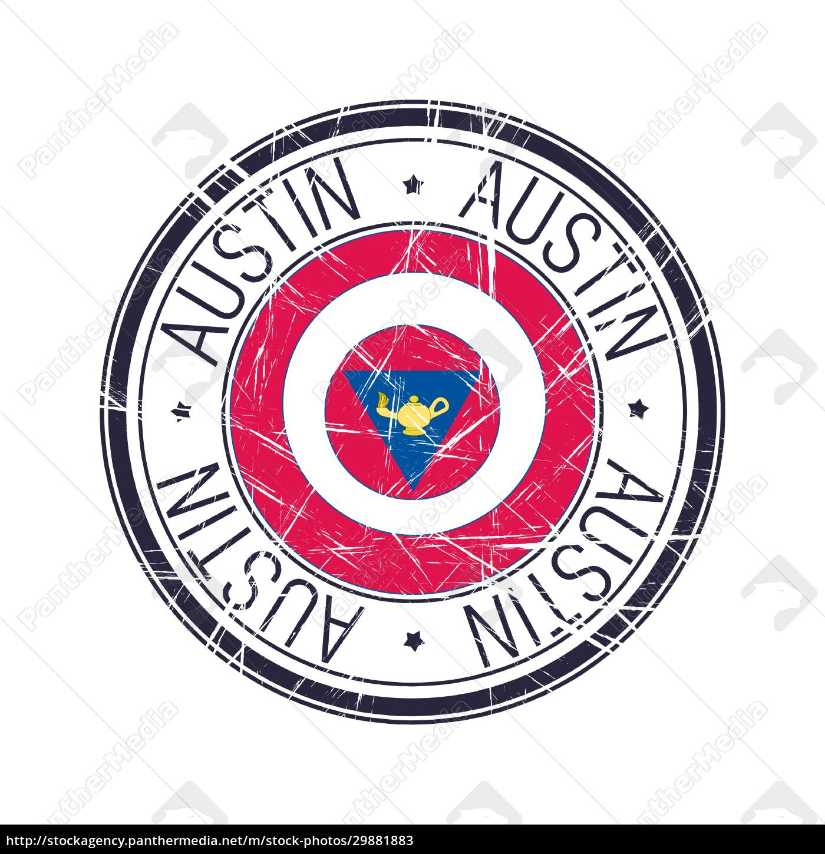 city, of, austin, , texas, vector, stamp - 29881883