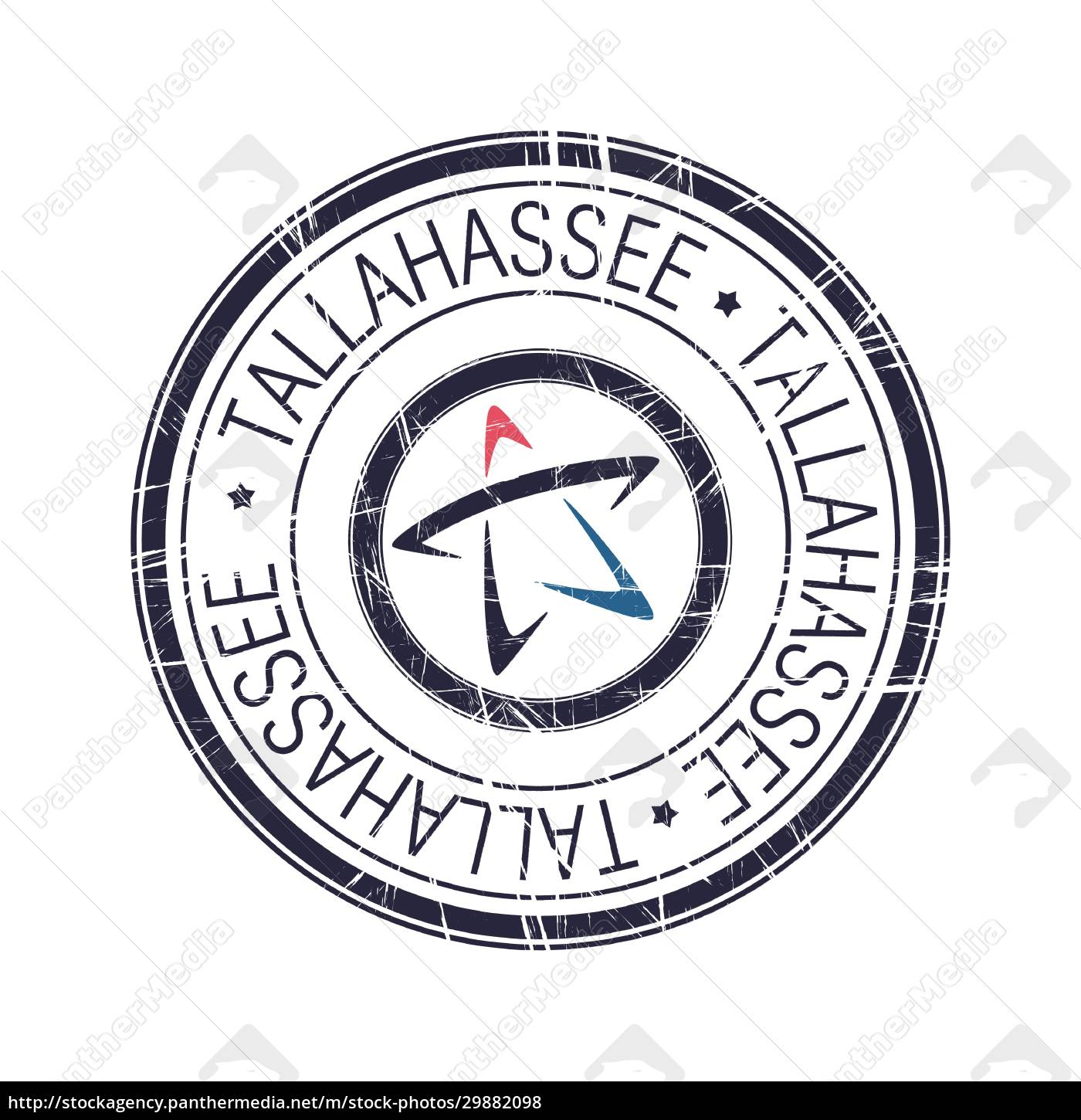city, of, tallahassee, , florida, vector, stamp - 29882098