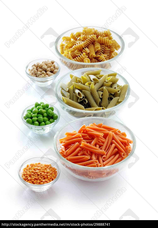 drei, arten, von, pasta, aus, hülsenfrüchte - 29888741