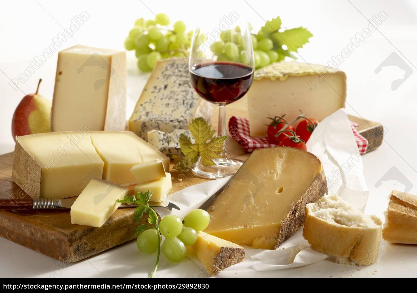 ein, stillleben, aus, französischem, käse, mit - 29892830