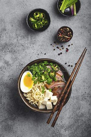 ramen, noodle, soup, with, tofu, , pork - 29896742