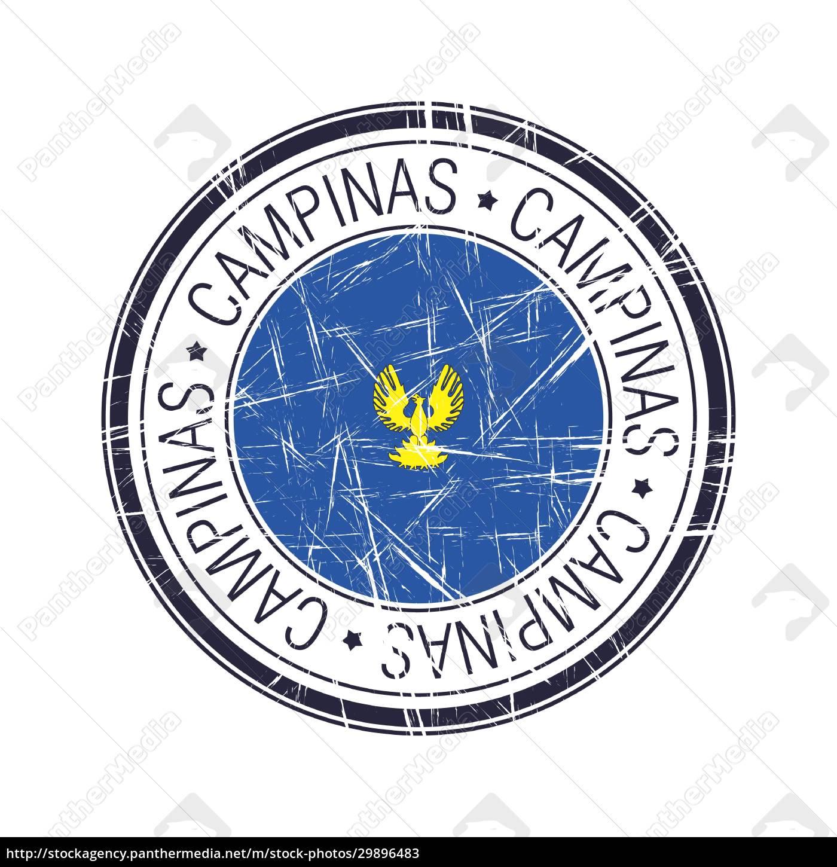 stadt, campinas, brasilien, vektorstempel - 29896483