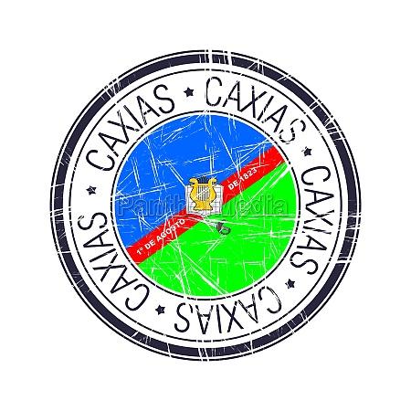 stadt, caxias, brasilien, vektorstempel - 29896485