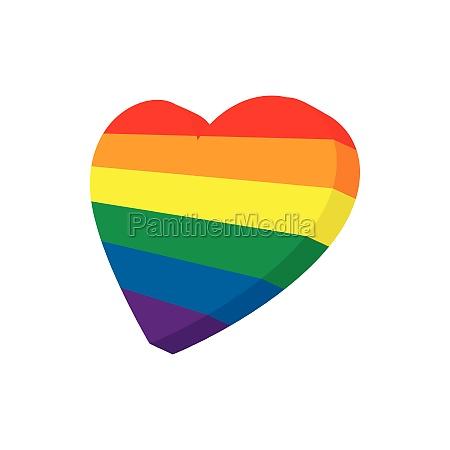 heart, in, lgbt, color, icon, , cartoon - 29923702