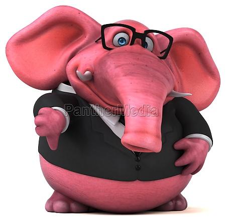spass elefant 3d illustration