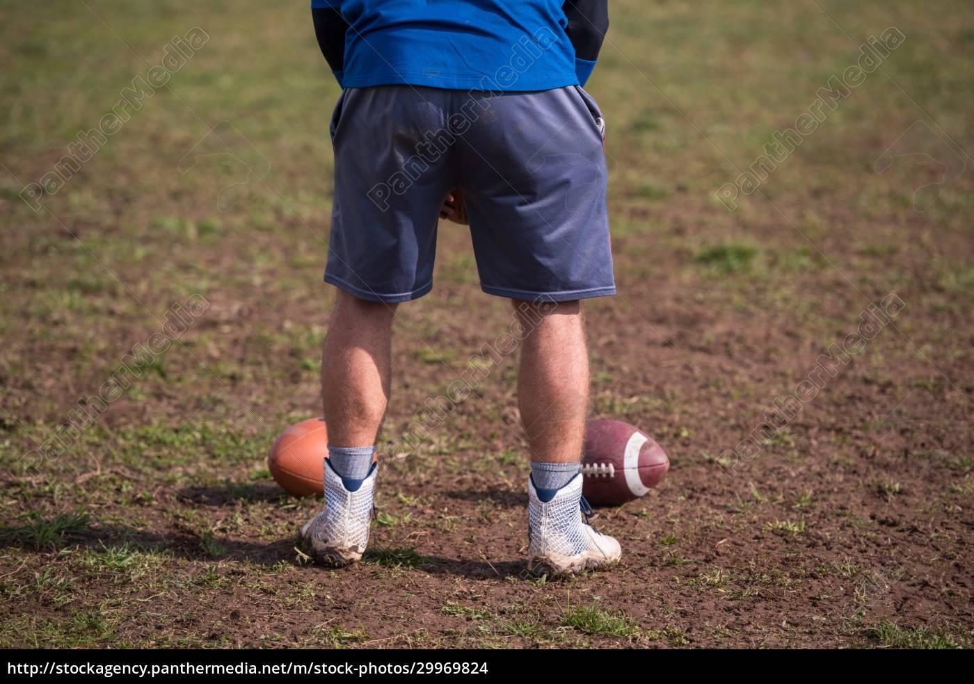 american, football, kicker, practicing, kickoff - 29969824