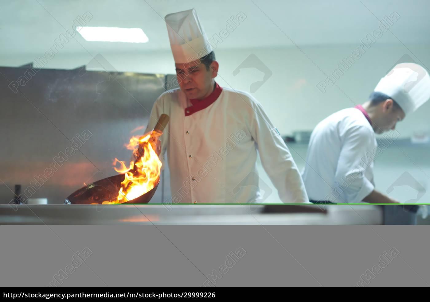 chef, in, hotel, kitchen, prepare, food - 29999226