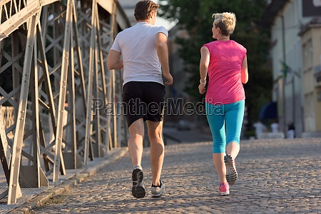 paar joggen