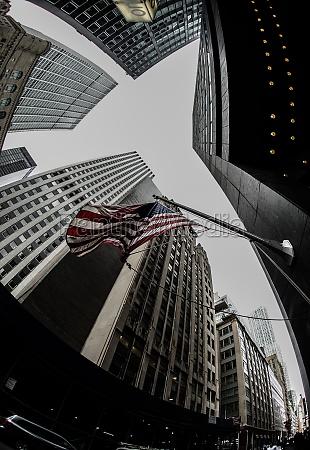 new york wall street and stars
