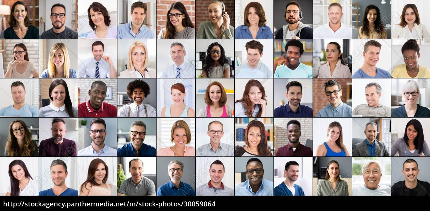 gruppe, avatar, fotos, collage., multikulturelle, menschen - 30059064