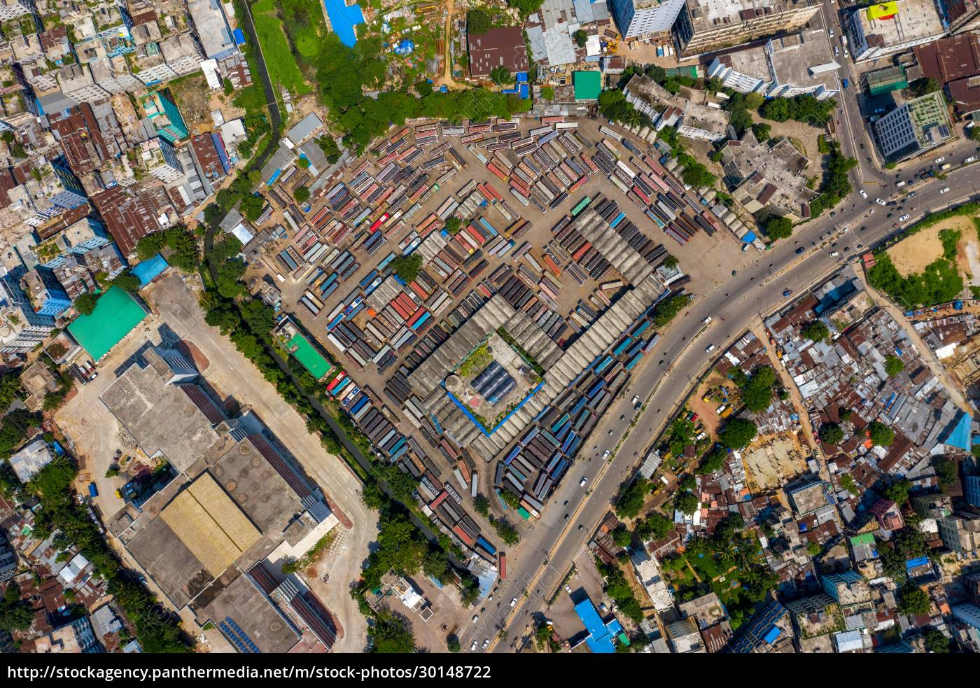 aerial, view, of, mohakhali, , a, bus - 30148722
