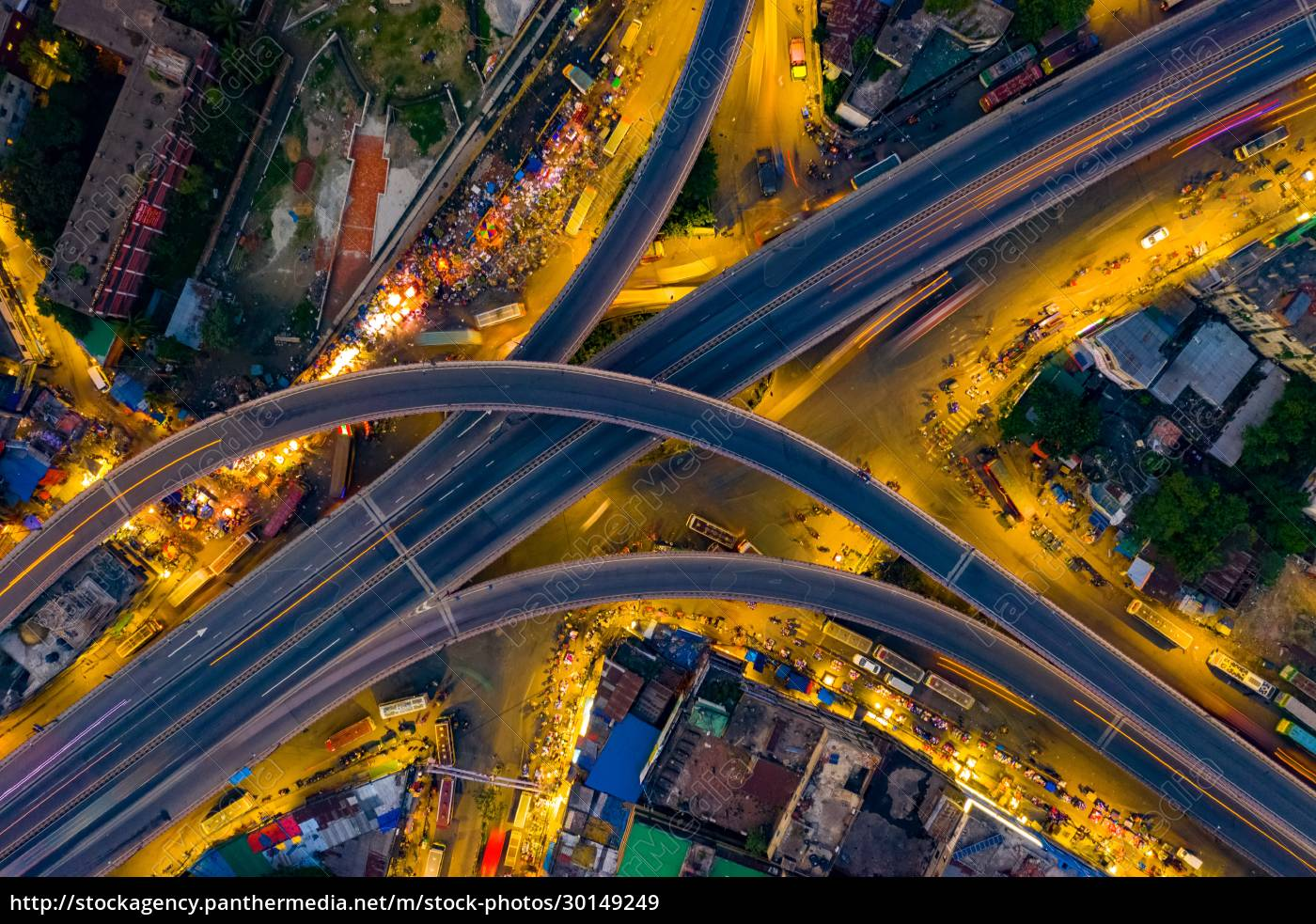 aerial, view, of, an, empty, junction - 30149249