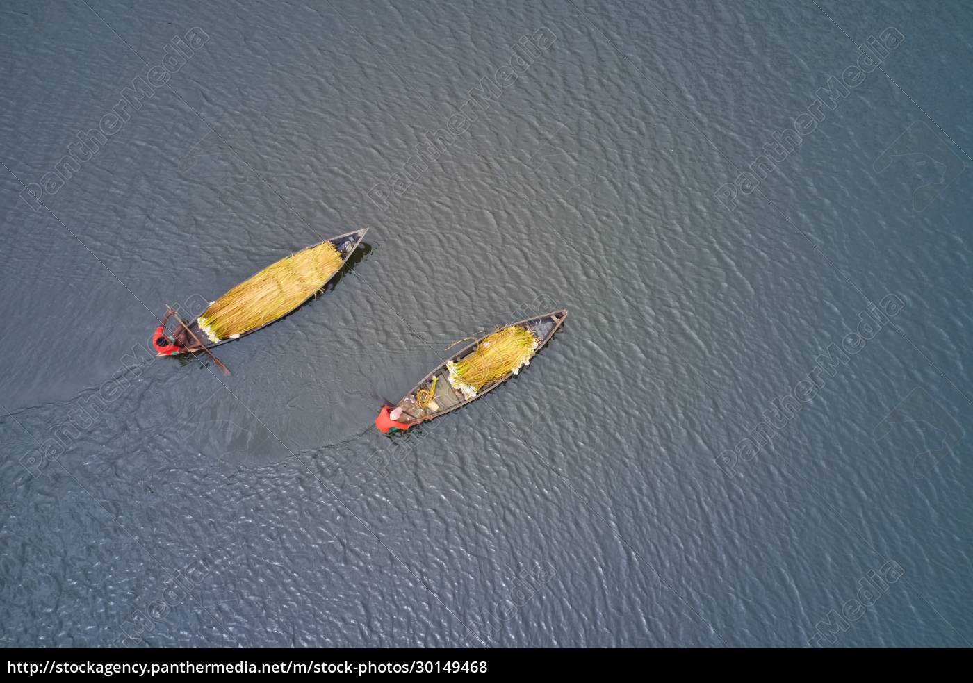 aerial, view, of, two, canoe, sailing - 30149468