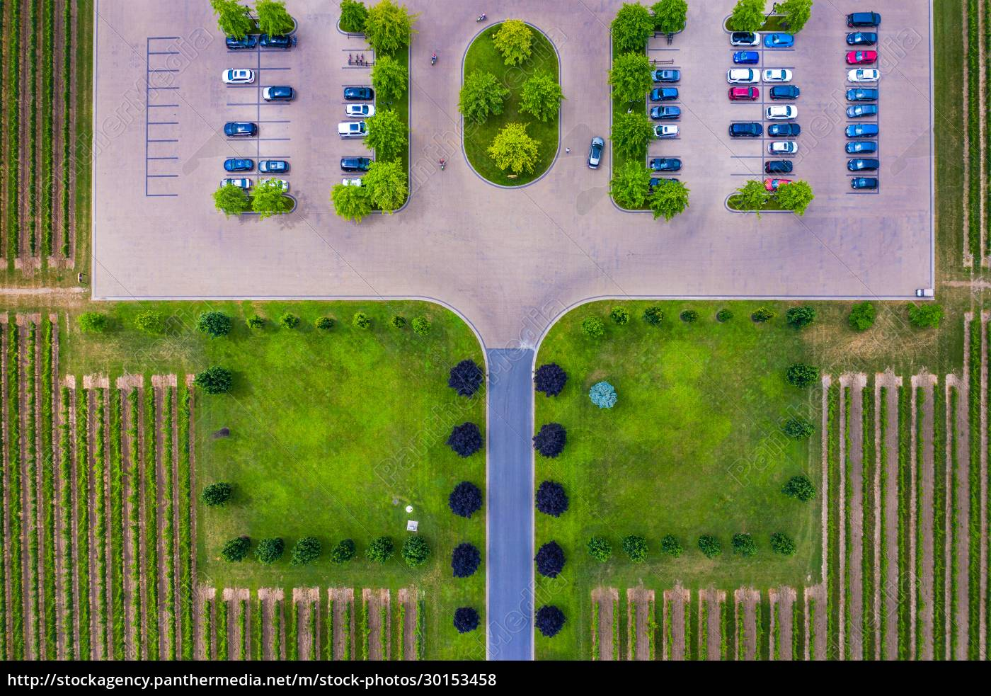 aerial, view, of, a, small, parking - 30153458