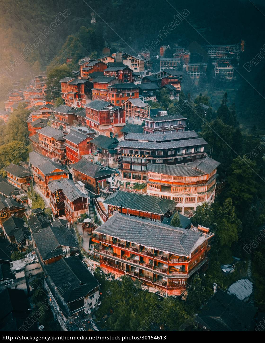 aerial, view, of, miao, village, in - 30154613