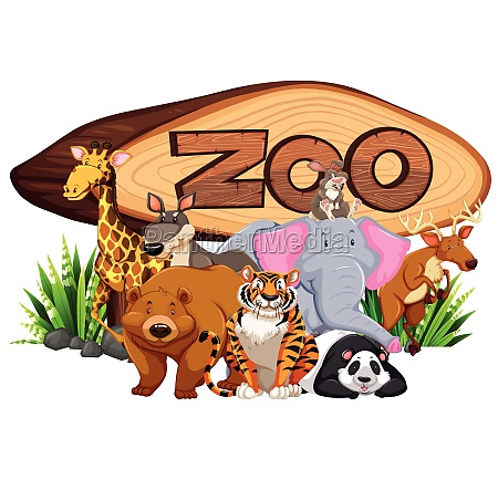 wild, animals, by, the, zoo, sign - 30185167