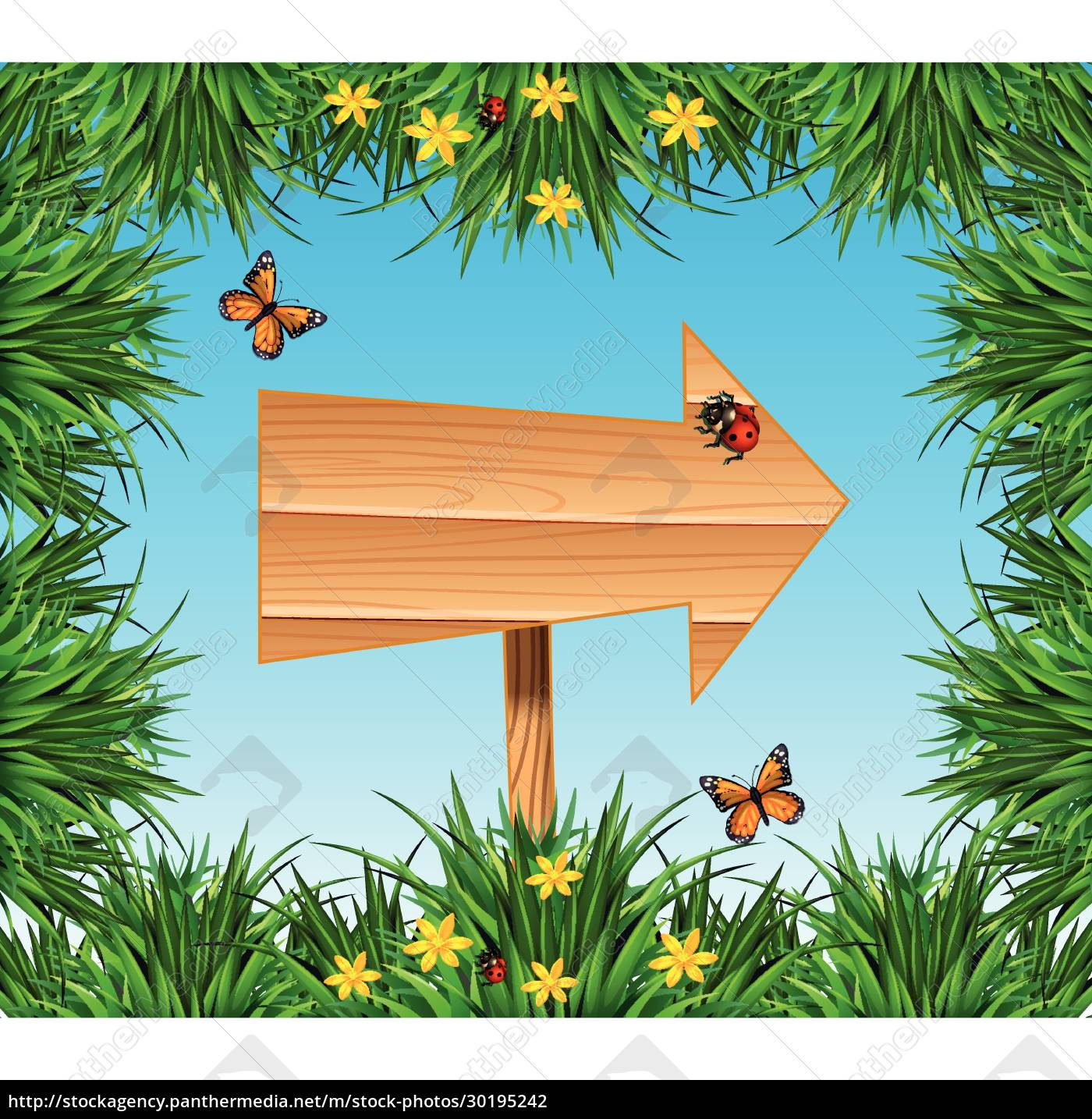 sign, with, insects, and, plants - 30195242