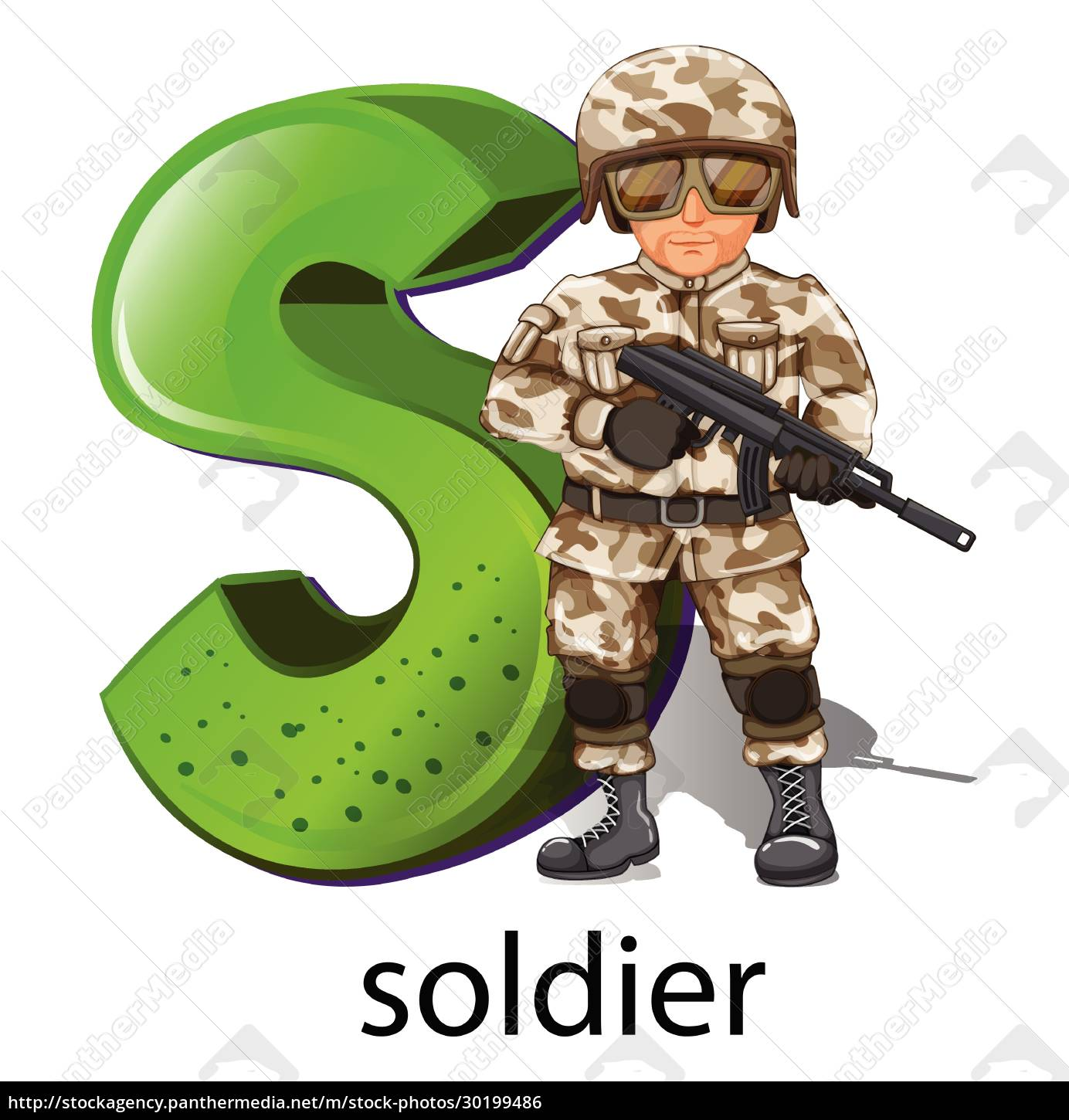 a, letter, s, for, soldier - 30199486