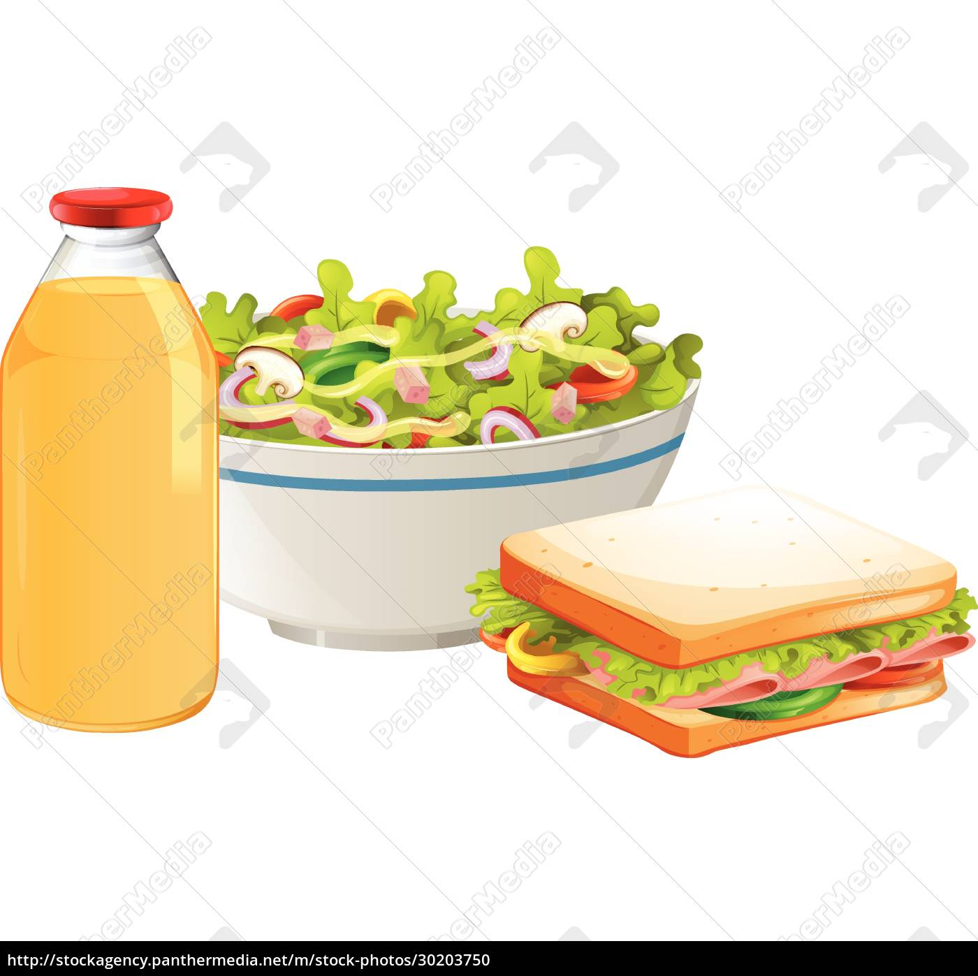 a, healthy, sandwich, and, salad - 30203750