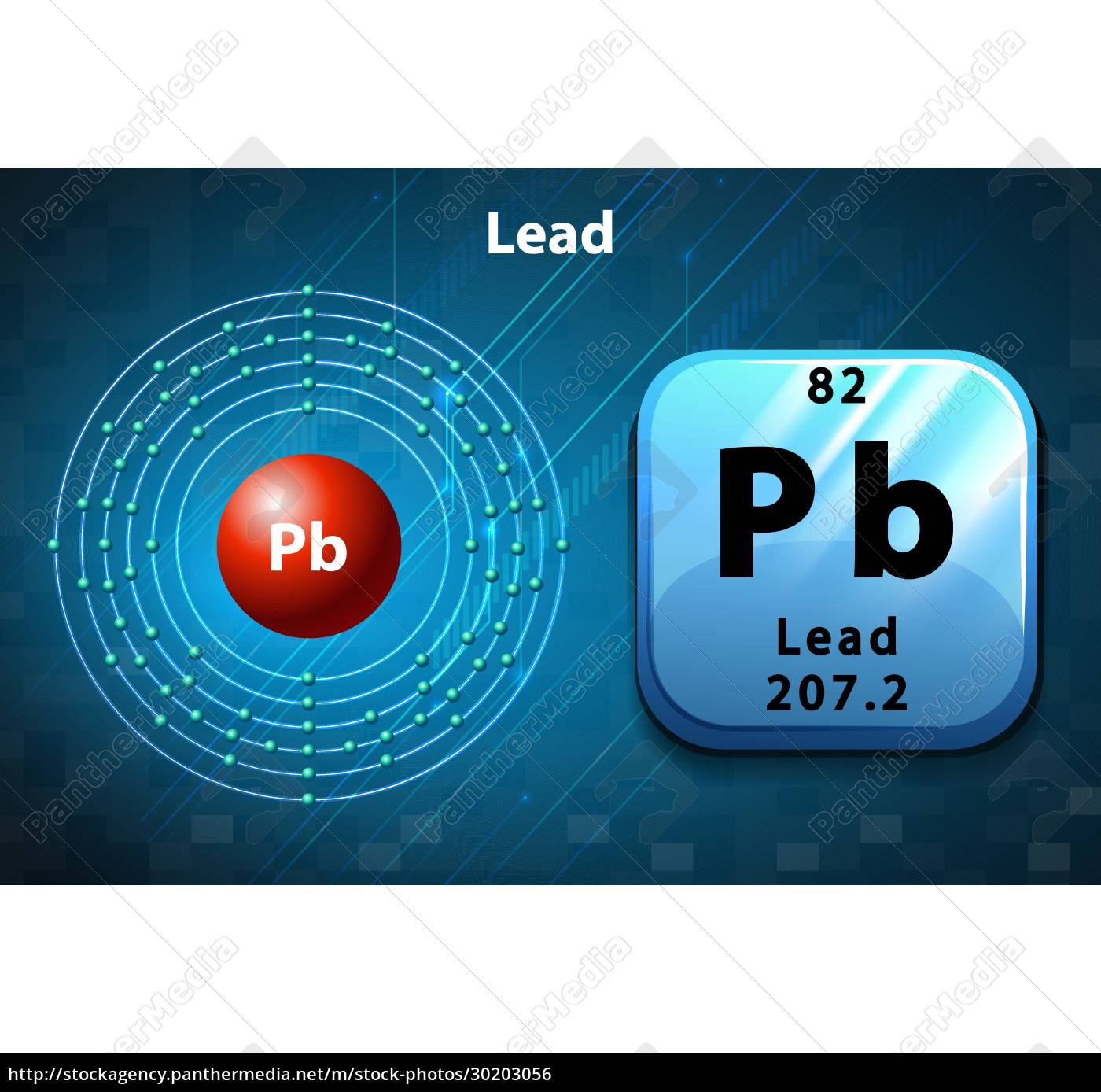 symbol, and, electron, diagram, of, lead - 30203056